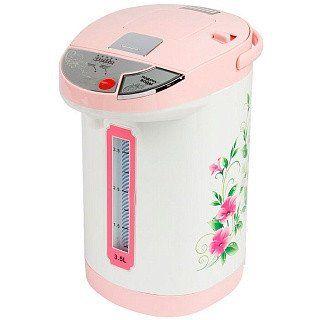Термопот DELTA DL-3032 Вьюнок белый с розовым
