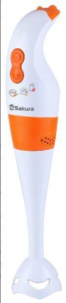 Блендер погружной SAKURA SA-6200A белый/оранж.