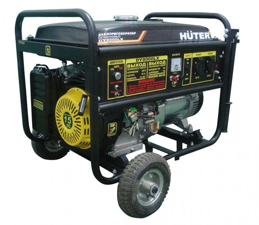Электрогенератор с колёсами HUTER dy8000lx (64/1/19.)
