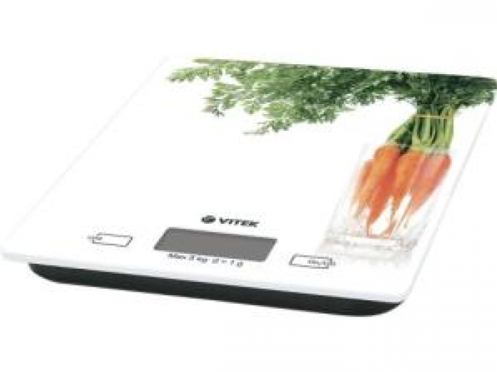 Кухонные весы Vitek 2418-VT-01 белый