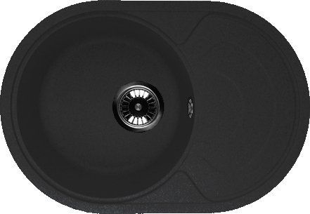 Кухонная мойка WHINSTONE Ронда 760 (арт. В28) черный