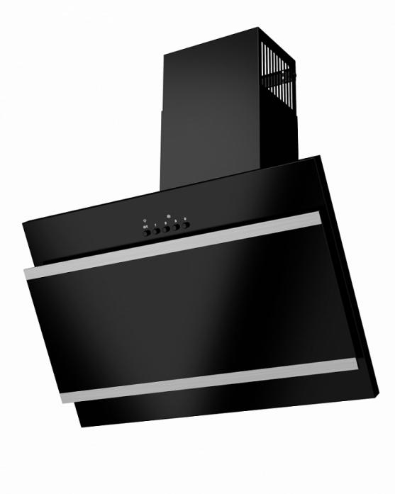 MAUNFELD TowerG60BLACK+SATINstrips(черный+черноестекло+сатинвставки)