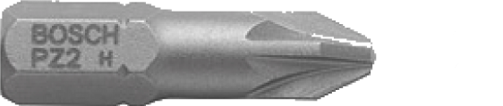 Набор 3 бит Bosch 25ММ PZ2 XH