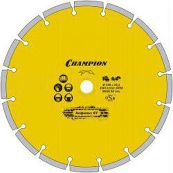 Диск алмазный CHAMPION st 350/25,4/10 asphafight