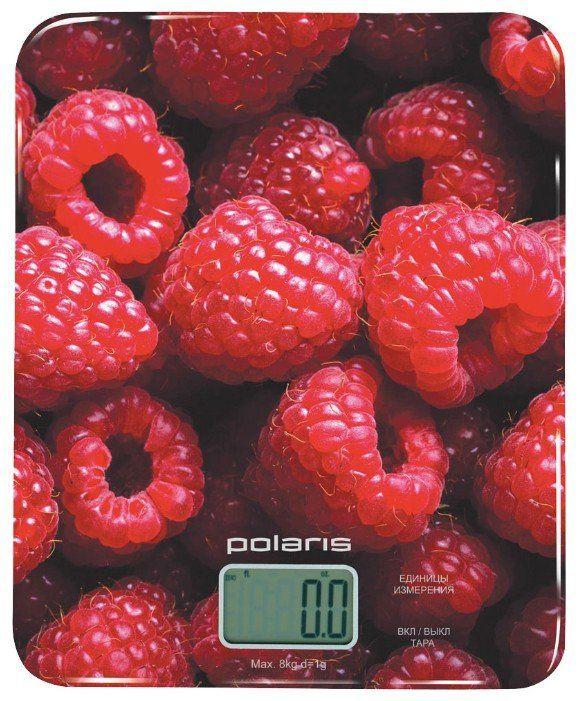 Весы кухонные POLARIS PKS 0832DG малиновый
