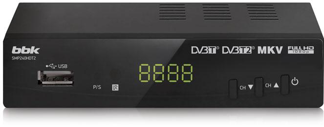 TV-тюнер BBK SMP240HDT2 темно-серый