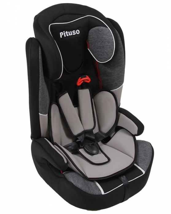 Автокресло PITUSO grey/black lb508