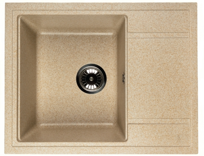 Кухонная мойка WHINSTONE Мунго 650 (арт. B26) светло-бежевый