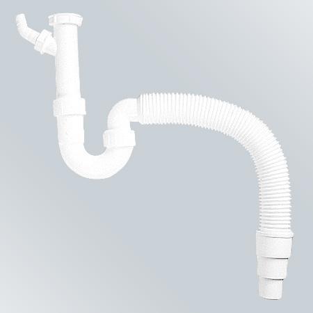 Сифон BLANCO с гофрированной трубкой выход на 40 и 50 мм 137262