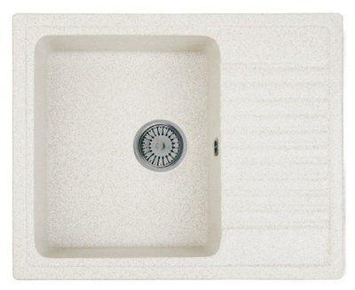 Кухонная мойка WHINSTONE орион 1b 1d (арт. b10) белый