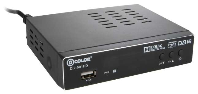 TV-тюнер D-COLOR DC1501HD черный