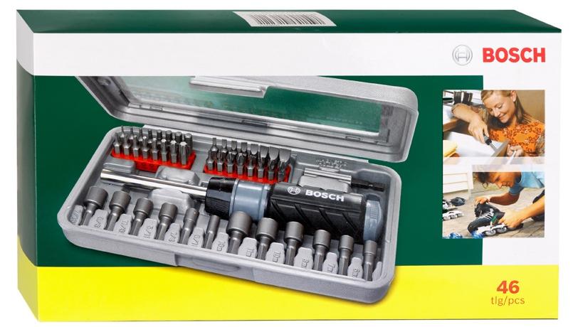 Набор бит и торцевых ключей BOSCH 46 шт (504)