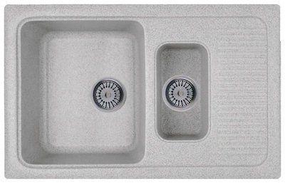 Кухонная мойка WHINSTONE Луара 1 1/2B 1D (арт. C09) серый