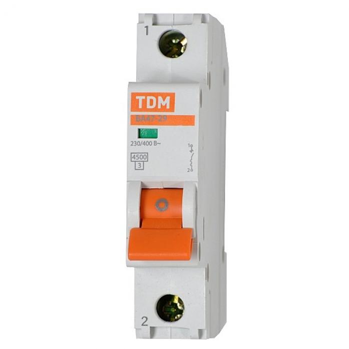 tdm Автоматический выключатель TDM ва47-29 1р 16а 4,5ка х-ка с