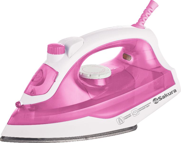 Утюг SAKURA SA-3045NP белый/розовый