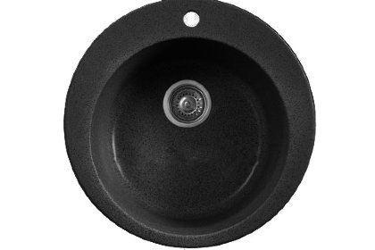 Кухонная мойка WHINSTONE Арго 1B (арт. A04) черный металлик