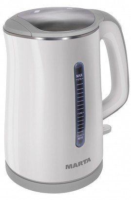 Электрочайник MARTA MT-1065 белый/серый