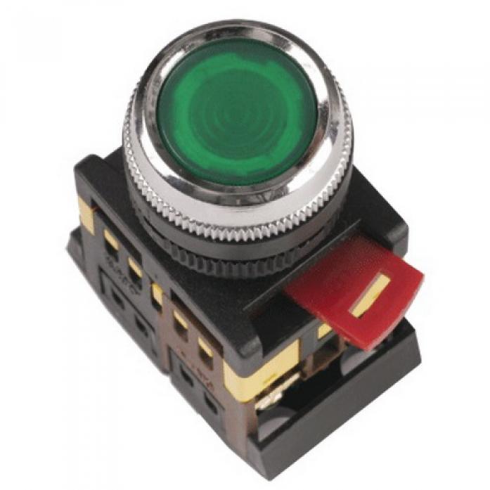 tdm Кнопка TDM ablfs-22 d22мм неон/230в 1з 1р зеленый