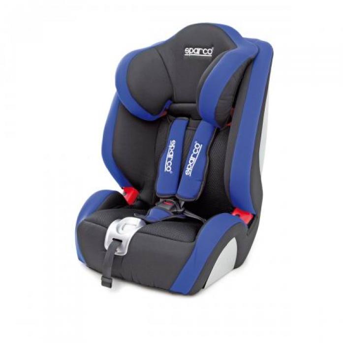 Автокресло SPARCO f 1000k черный/синий
