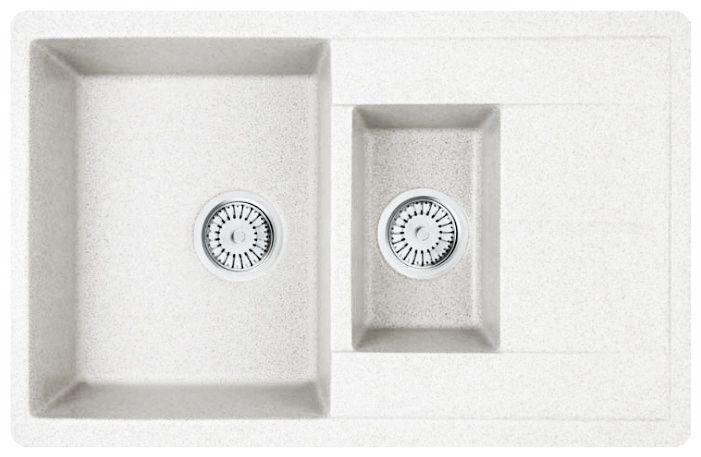 Кухонная мойка WHINSTONE Гурон 1 1/2B 1D (арт. C10) белый