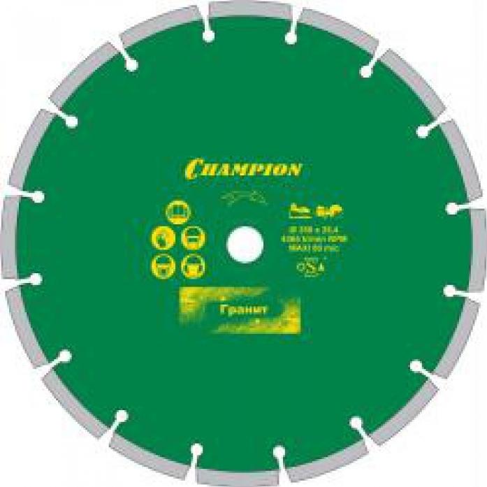 Диск алмазный CHAMPION pro 400/25,4/10 laser granite