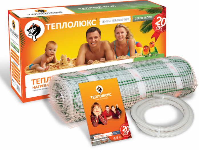 Теплый пол ТЕПЛОЛЮКС tropix мнн- 285-2,00