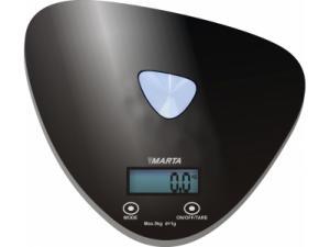 Кухонные весы Marta MT-1632 черный/блестящий
