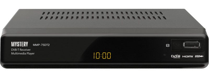 DVB-T2 ресивер MYSTERY MMP-75DT2 черный