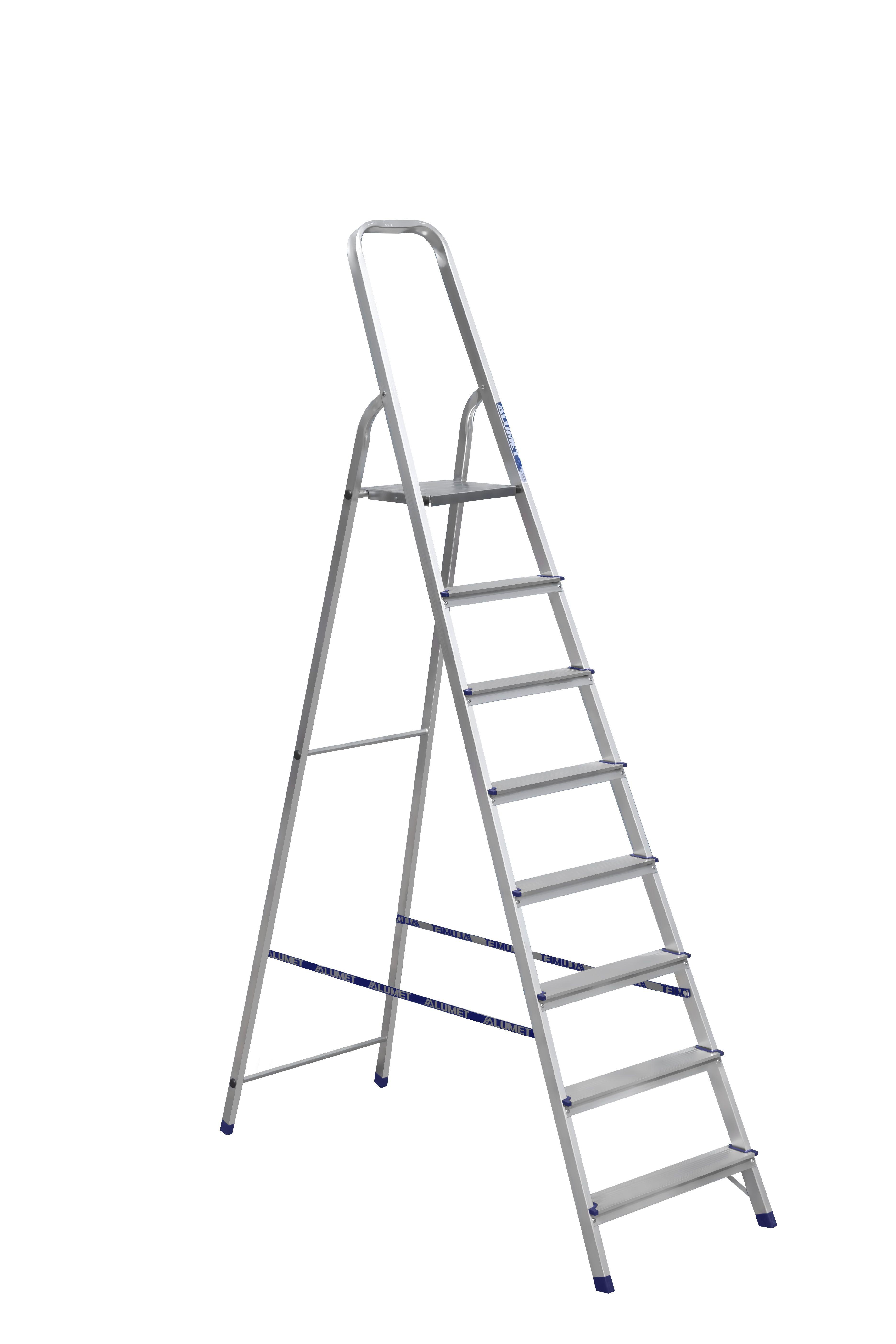 Лестница стремянка АЛЮМЕТ алюминиевая ам708 8 ступ