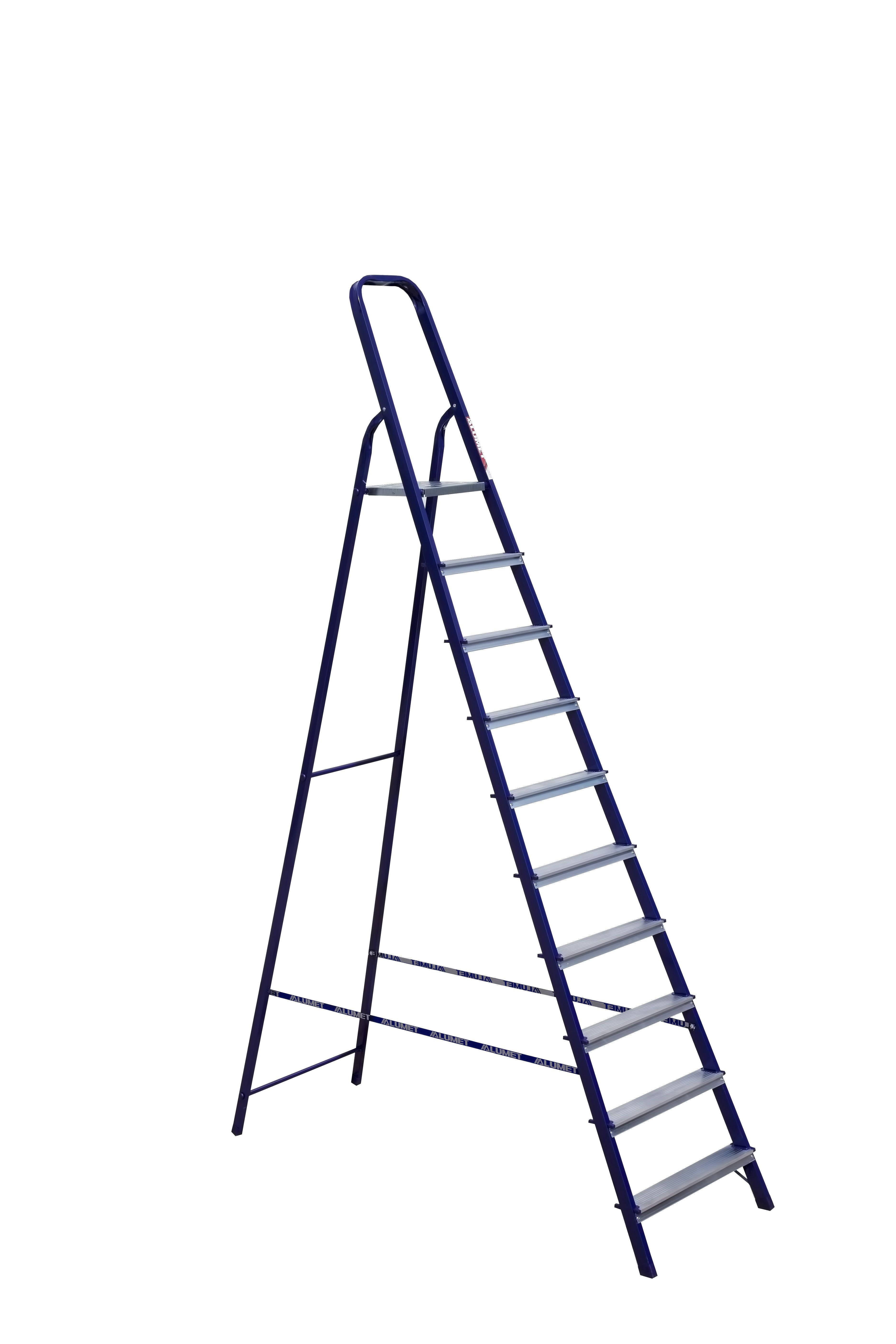 Лестница стремянка АЛЮМЕТ стальная м8410 10 ступеней