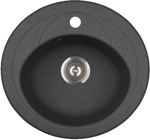 Кухонная мойка KUPPERSBERG capri 1b black metal.