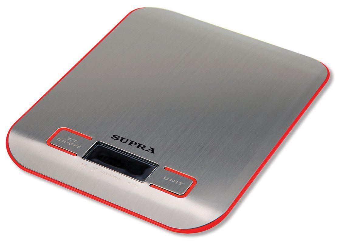Кухонные весы SUPRA BSS-4076 (red)