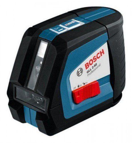 Линейный лазерный нивелир. максимальная видимость лазерного луча BOSCH gll 2-50