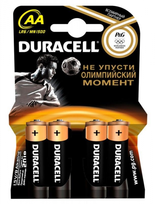 Батарейка DURACELL basic lr6-4bl aa