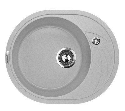 Кухонная мойка Weissgauff ASCOT 575 granit белый