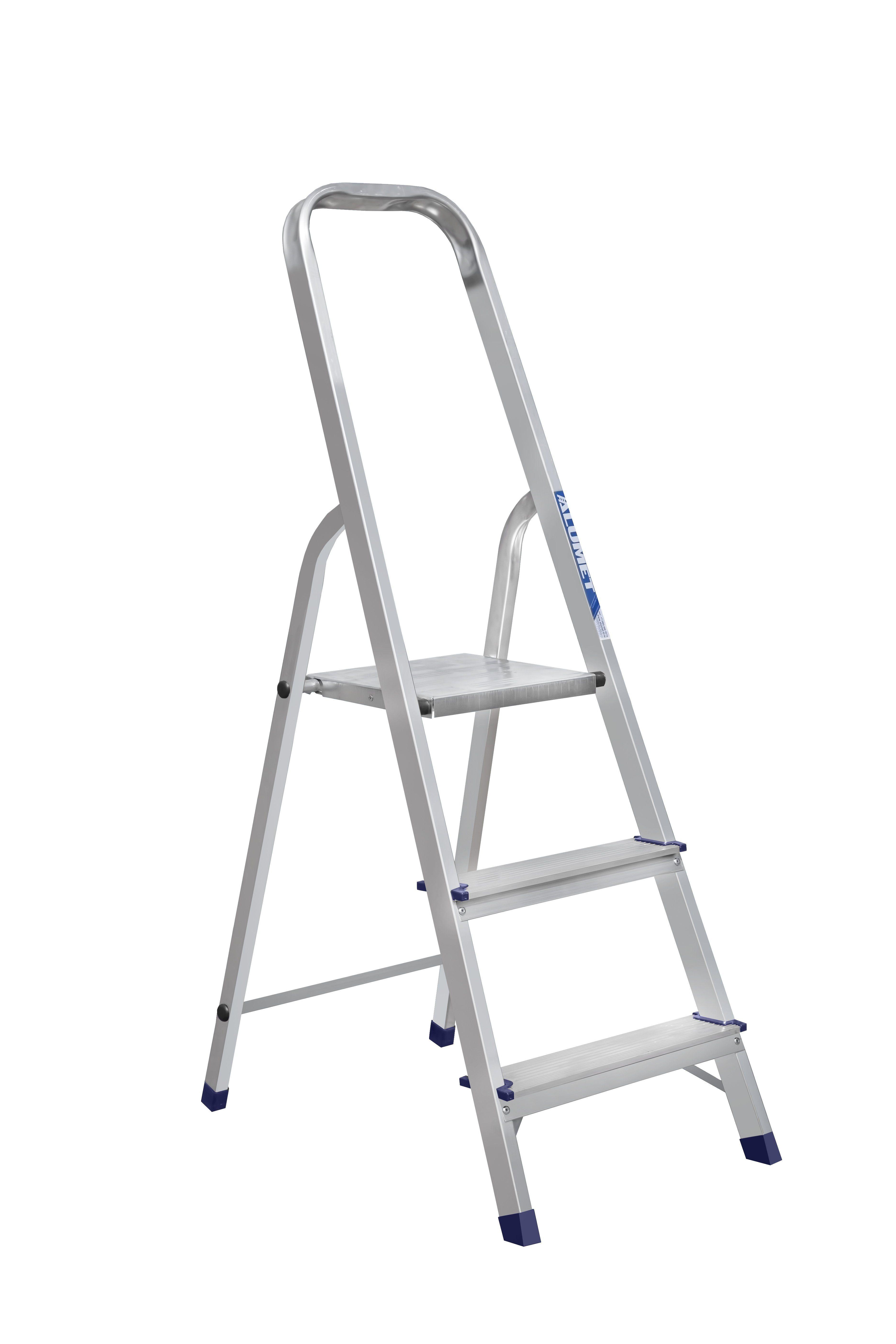 Лестница стремянка АЛЮМЕТ алюминиевая ам703 3 ступ