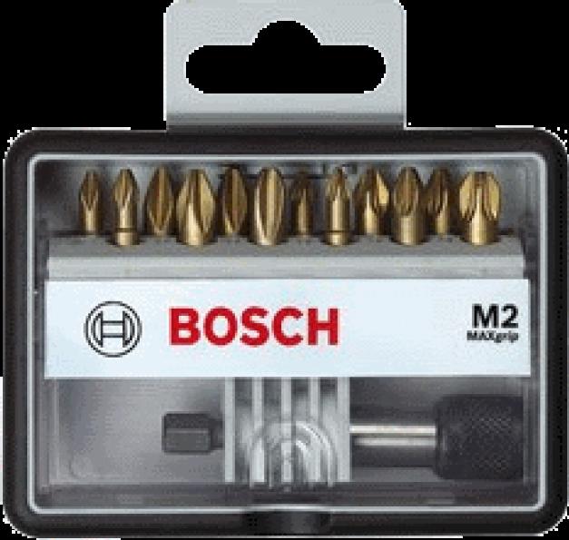 Набор 12 бит Bosch TIN держатель PH/PZ 25мм