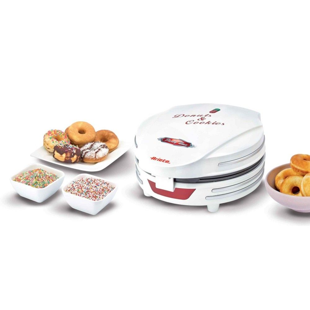 Вафельница ARIETE Donuts Cookies Party Time 189 белый