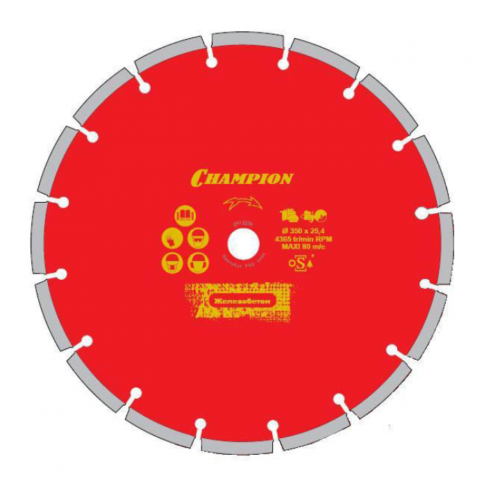 Диск алмазный CHAMPION pro 300/25,4/10 laser granitek